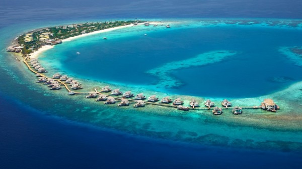 Viceroy Maldives Resort picture taken from the Air