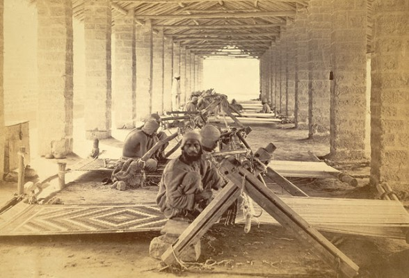 Carpet Weavers in Karachi Jail in Sindh - 1873