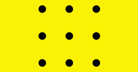 Number Names Worksheets connect the dots in 4 lines : Picture Riddle: Connect all 9 of the dots using 4 straight lines ...